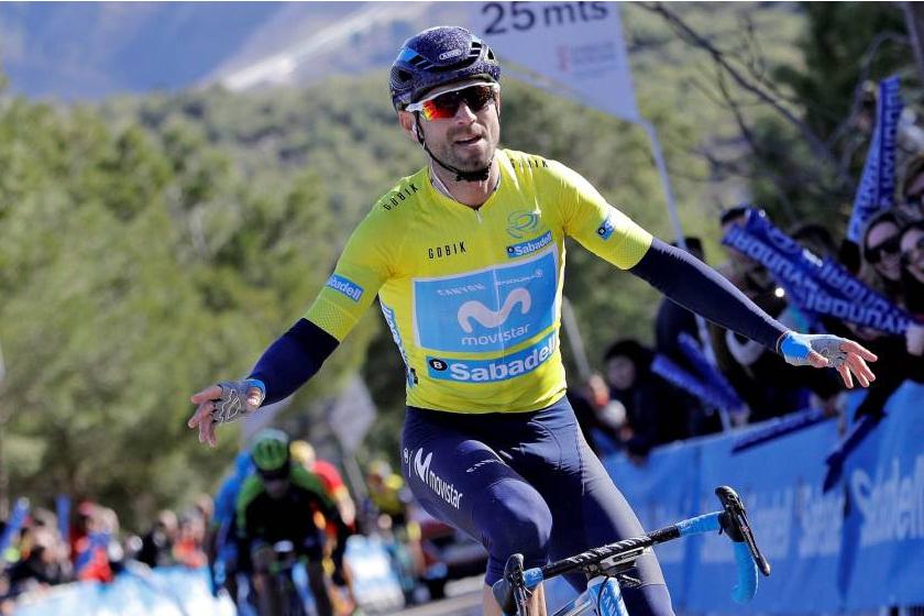 Alejandro Valverde ganó en Cocentaina y prácticamente sentencia la Vuelta a la Comunidad Valenciana 2018 (Foto: EFE).