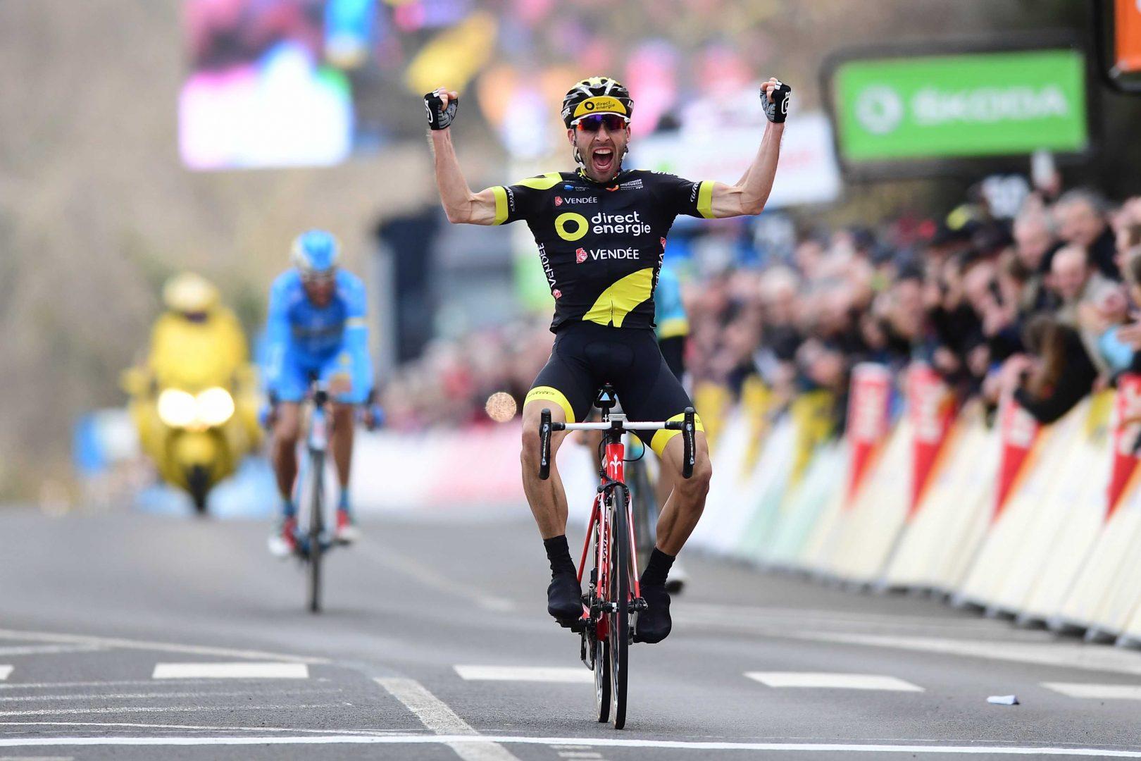 El corredor murciano de Astana salió como nuevo líder de la general de la París Niza tras la tercera etapa, con una ventaja de 29 segundos sobre el francés Demare (FDJ). (Foto: Alex Broadway)