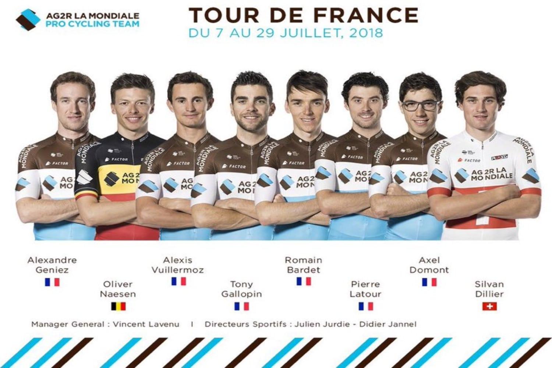 El AG2R afrontará el Tour de Francia con la ilusión de alzar al galo Romain Bardet a lo más alto del cajón en los Campos Elíseos de París. (Foto: AG2R)