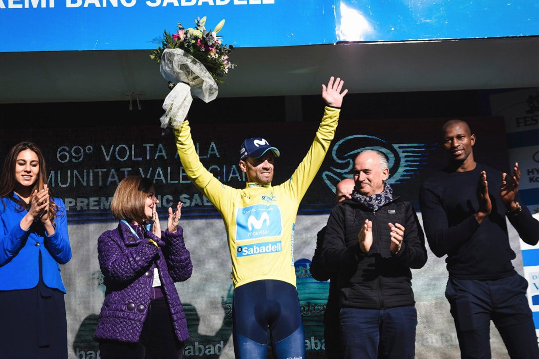 Alejandro Valverde obtuvo la tercera victoria en la general de la Vuelta a La Comunitat Valenciana.