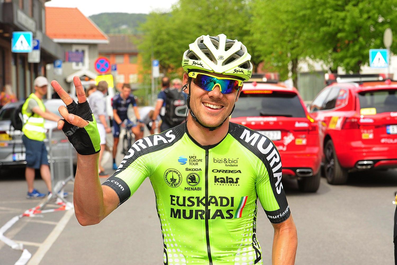 Edu Prades quedó el cuarto en la etapa de ayer (Foto: Euskadi Murias).