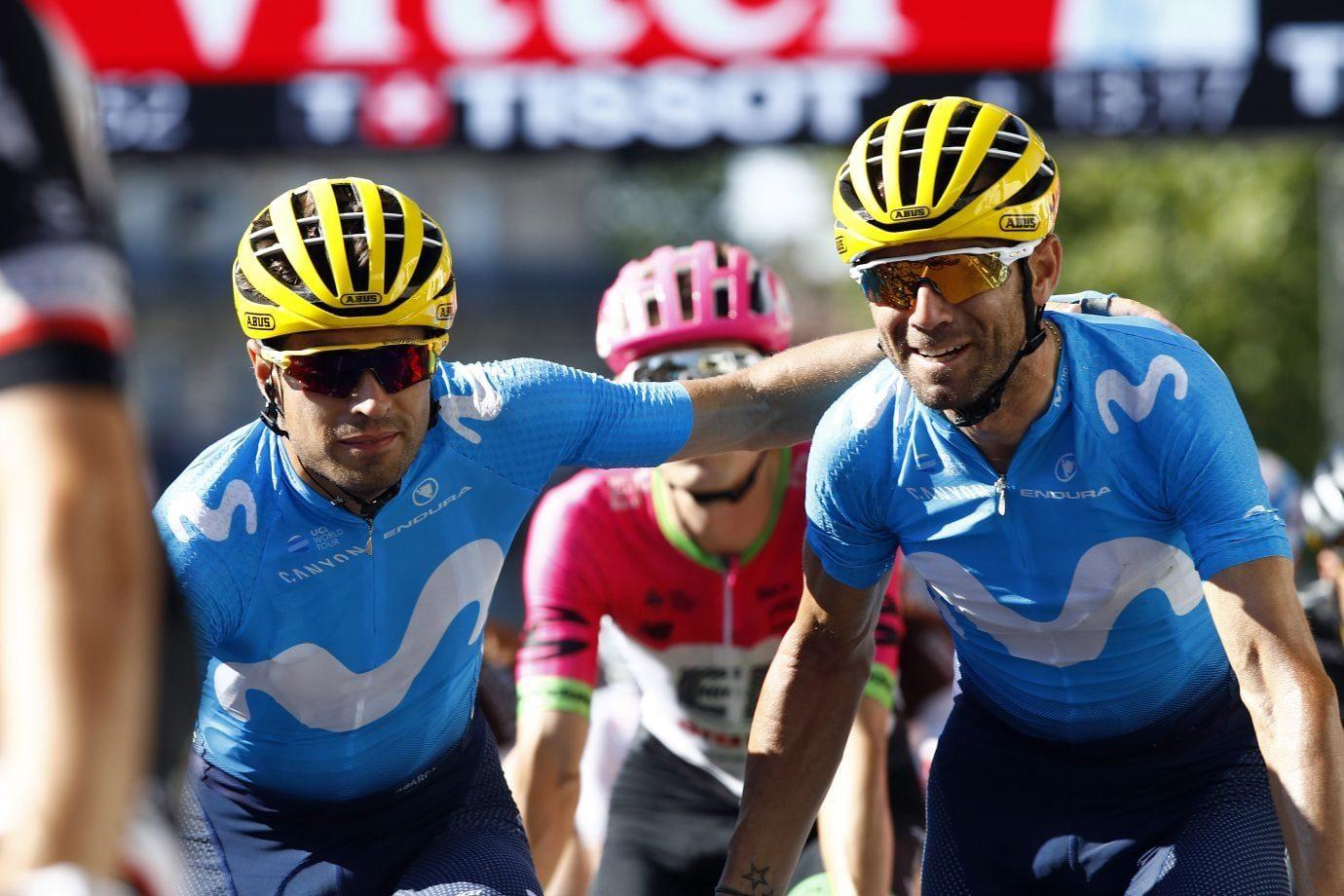 Mikel Landa y Alejandro Valverde en el Tour de Francia 2018 (Foto: BettiniPhoto).