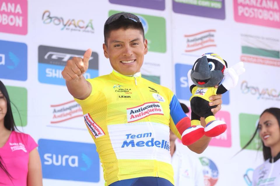 Jonathan Caicedo, a una etapa de coronarse campeón de la Vuelta a Colombia