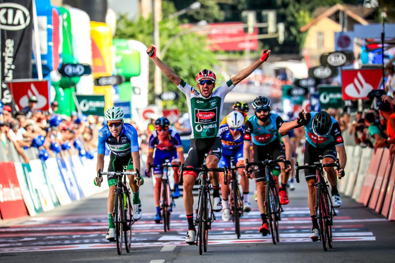 Vicente García de Mateos (Aviludo-Louletano) ganó este viernes la octava etapa de la Volta a Portugal.