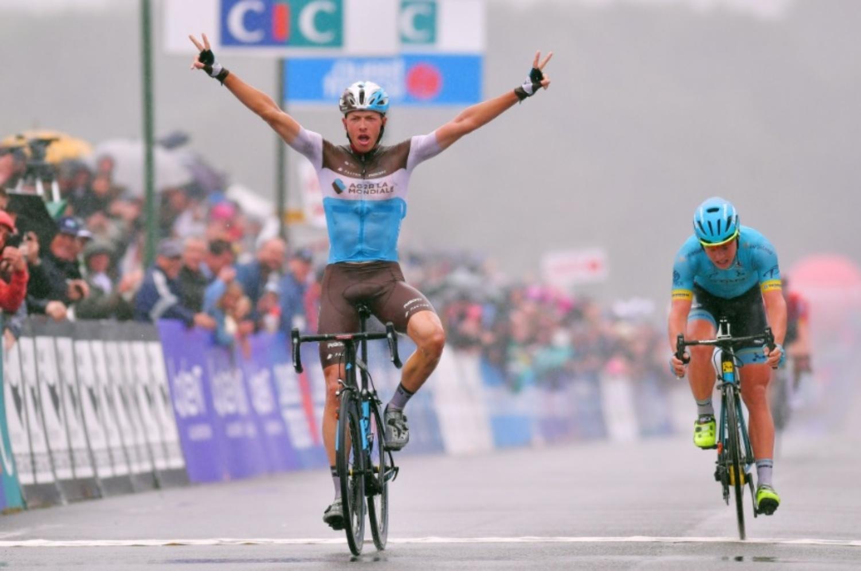 El belga se impuso en el sprint a Michael Valgren (Fuente: AG2R La Mondiale).