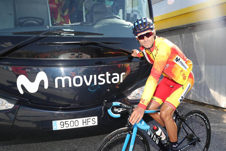 Alejandro Valverde será el jefe de filas de España en el Mundial de Innsbruck.