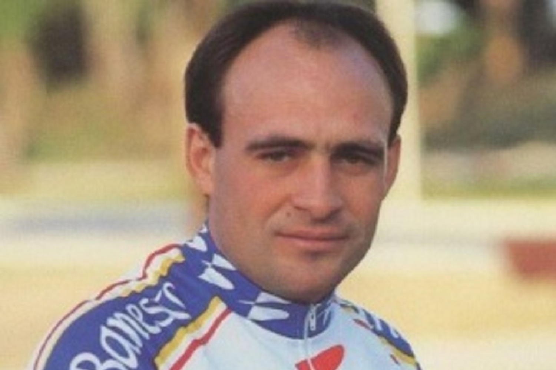 El exciclista durante su etapa en el Banesto (Foto: Movistar).