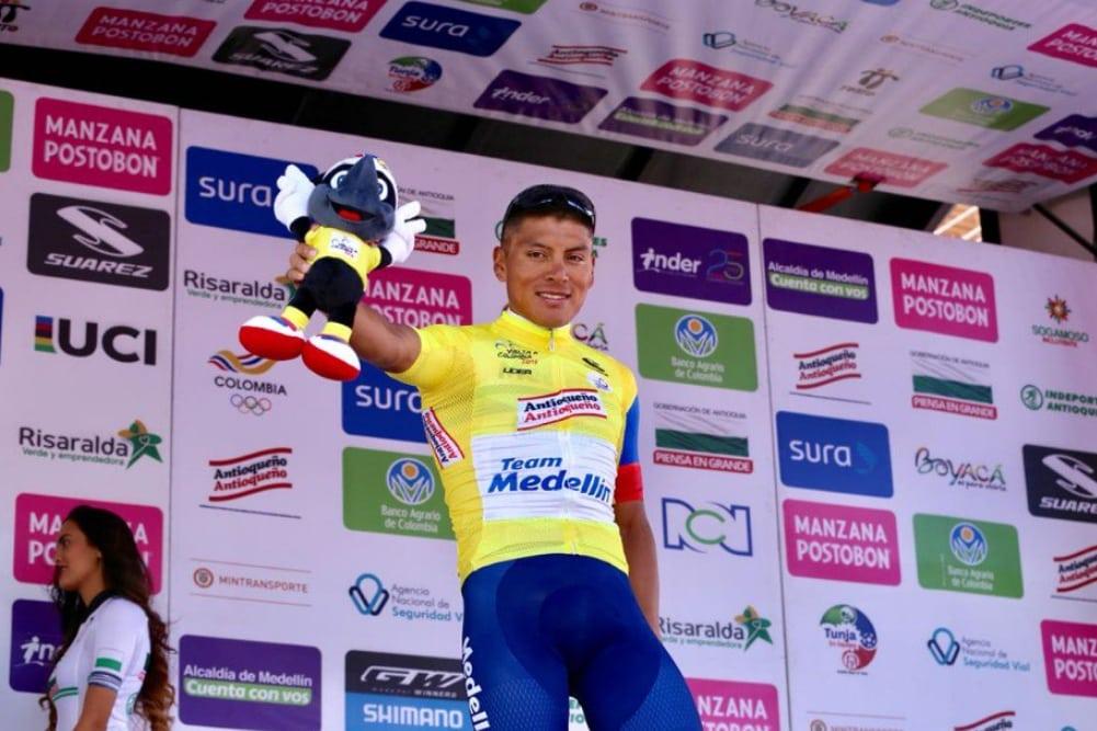 El ecuatoriano Jonathan Caicedo cambiará el maillot del Medellin por el de Education First (Fuente: Twitter).