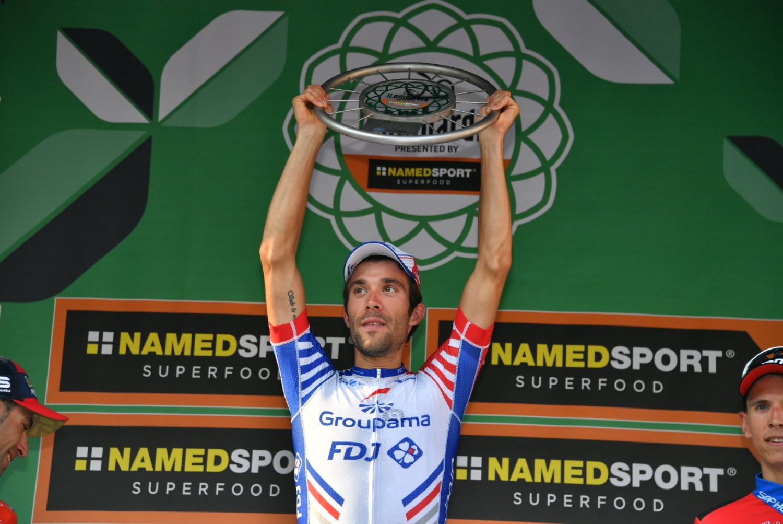 Pinot en el podio de Lombardía (Foto: D'Alberto / Ferrari).