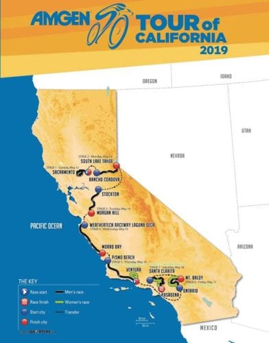 Recorrido Tour de California 2019
