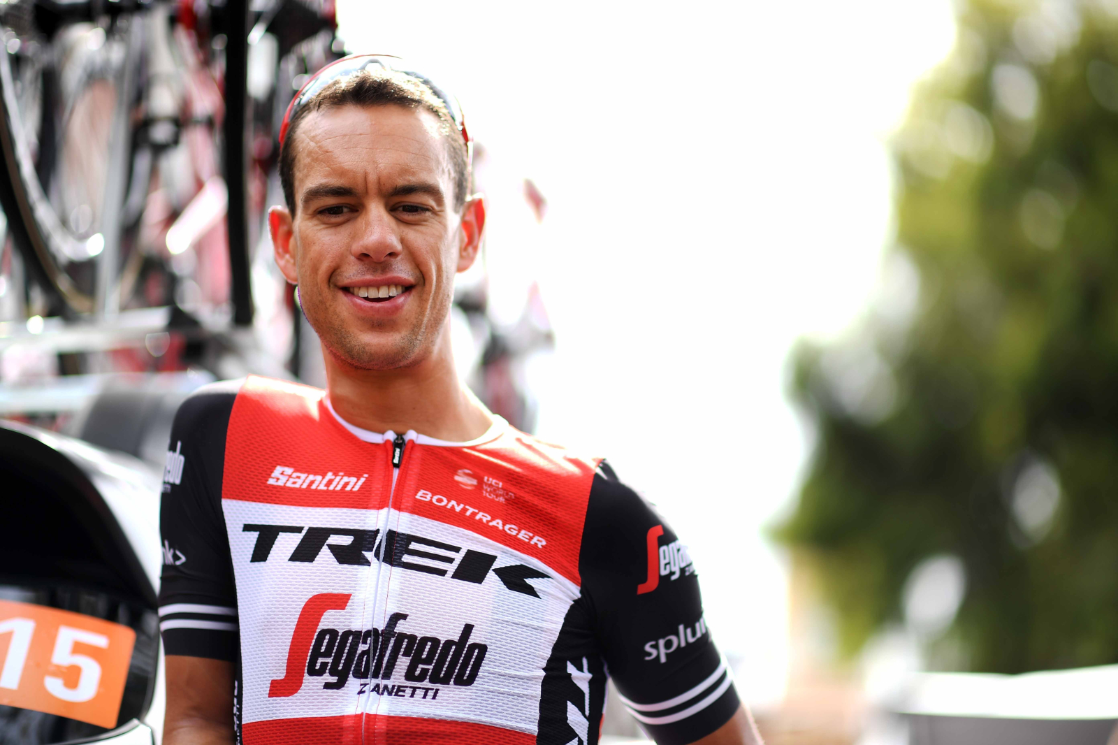 NORWOOD, AUSTRALIA - JANUARY 16:  Richie Porte of Australia and Team Trek-Segafredo looks on during stage two of the 2019 Tour Down Under on January 16, 2019 in Norwood, Australia.  (Photo by Daniel Kalisz/Getty Images)