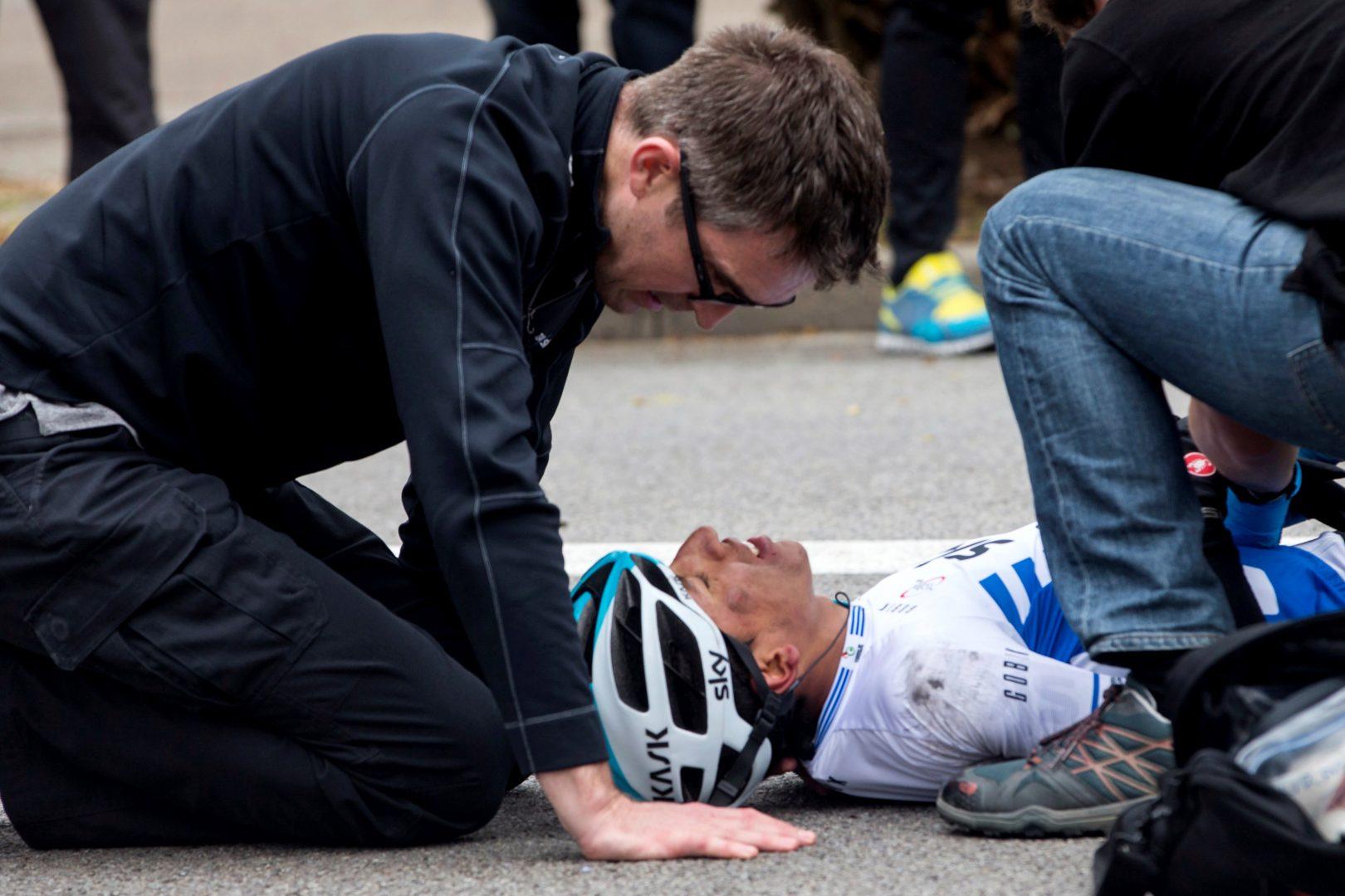 Egan Bernal, ingresado en un hospital de Barcelona para explorarle un hombro (Foto: EFE).