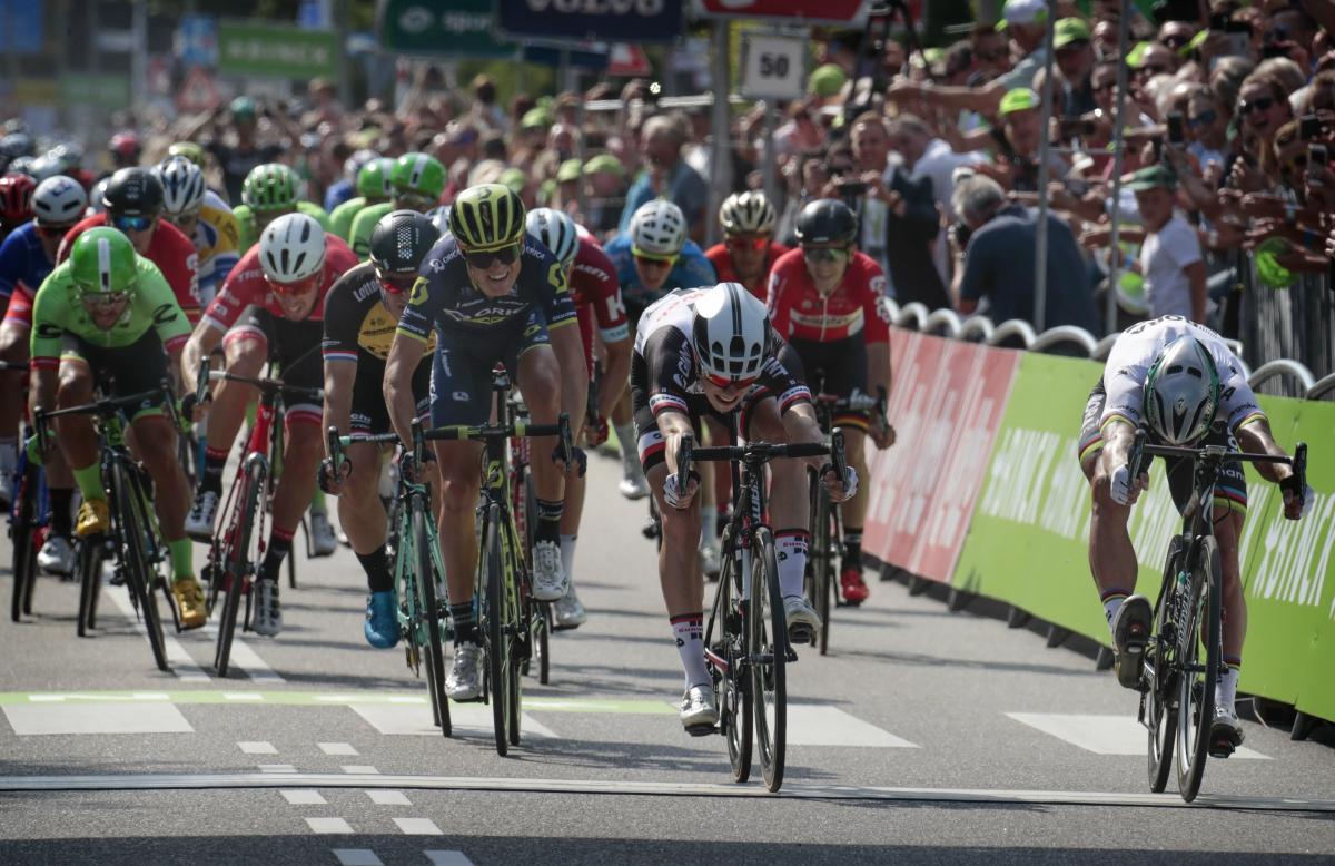 Sagan se impuso en el esprint final (Foto: EFE)