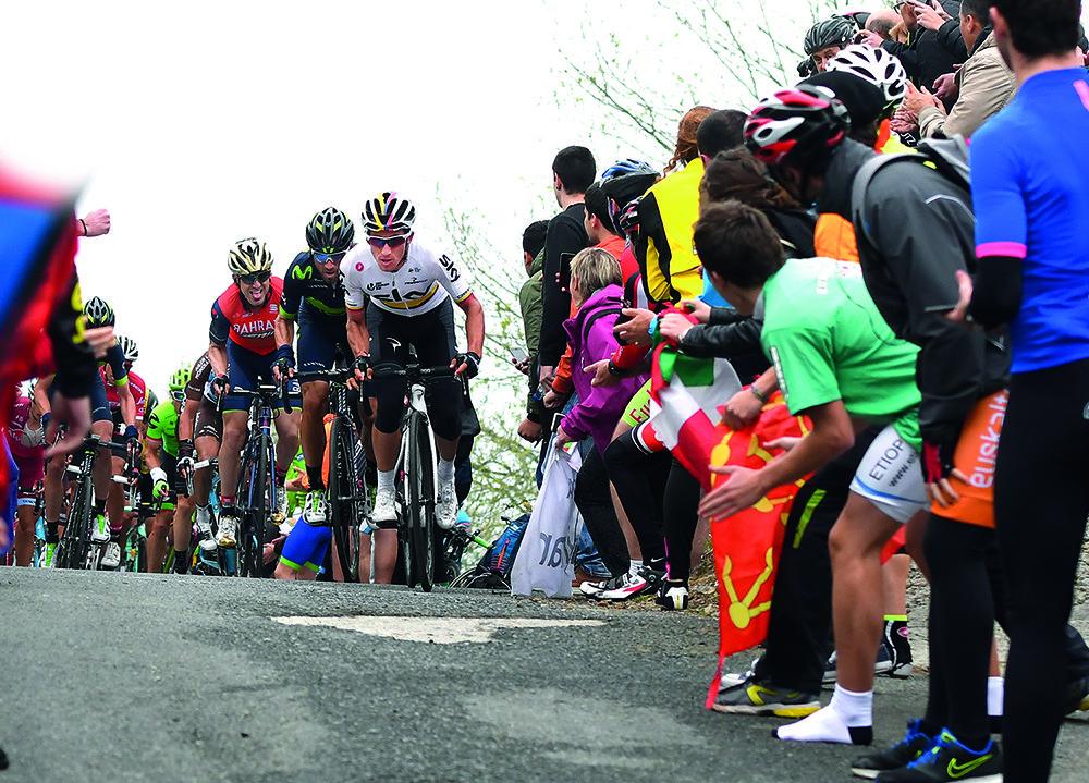 Valverde y Henao fueron dos de los protagonistas en Itzulia en 2017 (Foto: Oceta).