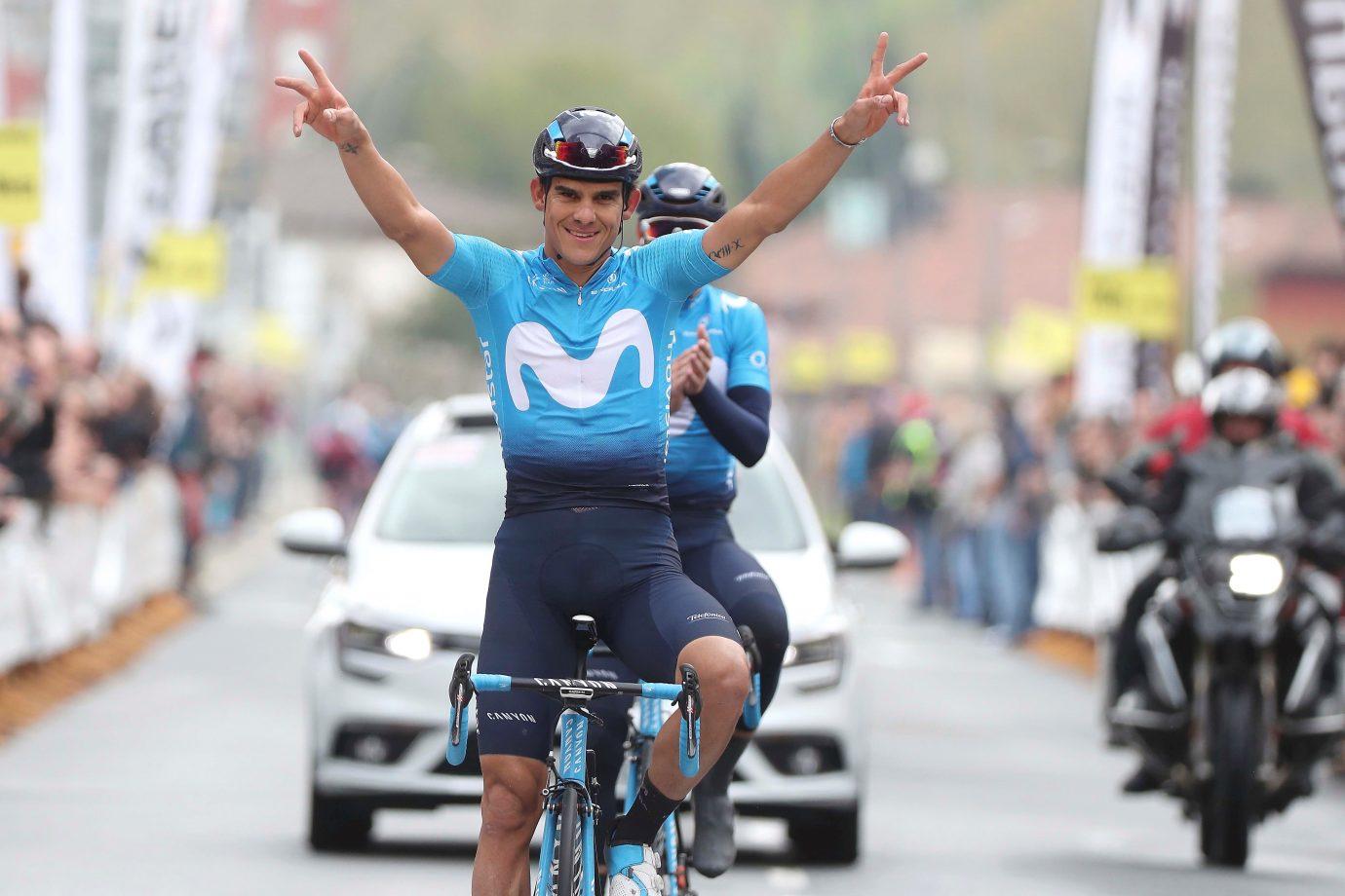 Andrey Amador logra la victoria en la Klasica de Primavera por delante de Valverde (Foto: Movistar Team/ Gomez Sport).