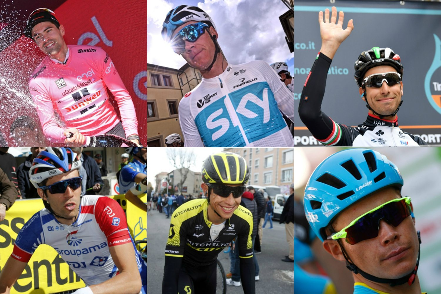 Dumoulin, Froome, Aru, Pinot, Chaves y López (Fotos: BettiniPhoto).