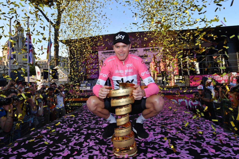 Chris Froome, que conquistó este domingo el primer Giro de Italia de su carrera, aseguró al acabar la última etapa que