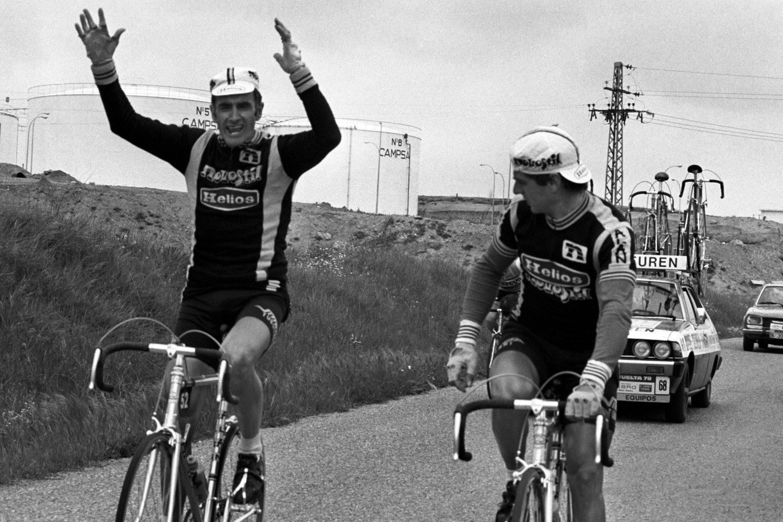 Gandarias durante la séptima etapa de la Vuelta Ciclista a España de 1969, entre Torrejón de Ardoz y Cuenca.