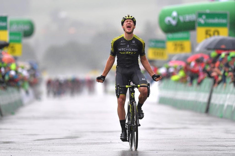 Christopher Juul Jensen, corredor del Mitchelton-Scott, se alzó con el triunfo en la cuarta etapa de la Vuelta a Suiza, tras imponerse en solitario en una jornada en la que el suizo Stefan Kungconservó el liderato. (Foto: Mitchelton Scott)