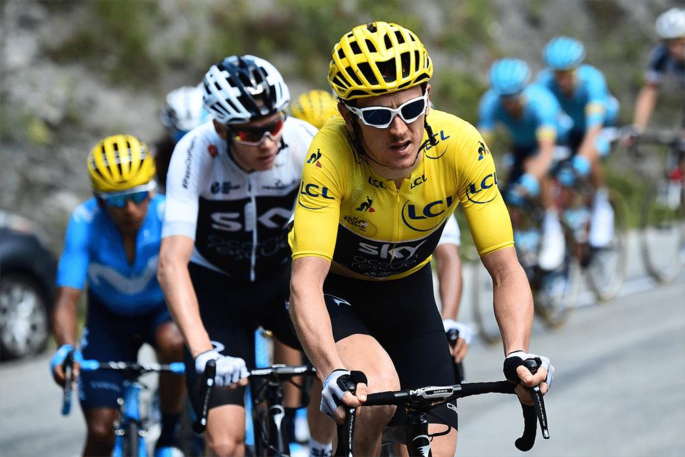 Thomas se convierte en el primer corredor que gana en Alpe D'Huez vestido de amarillo.