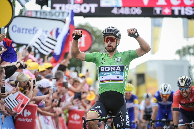 Peter Sagan se impuso este miércoles en la quinta etapa disputada al sprint, mientras que Greg Van Avermaet, delBMC, retuvo el jersey de líder.