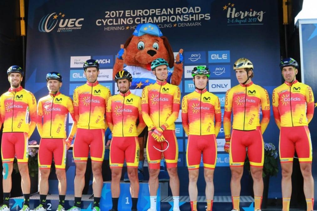 Equipo español en el Campeonato Europeo de 2017 (Foto: RFEC).