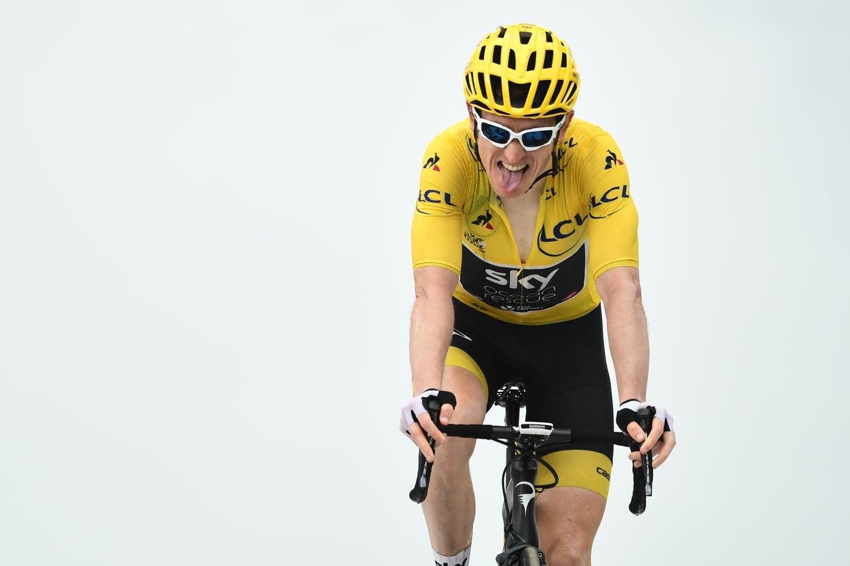 Geraint Thomas con el maillot amarillo en la decimoséptima etapa del Tour 2018 (Foto: LeTour).