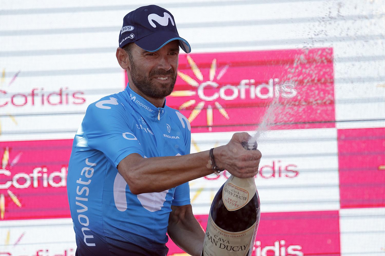 Alejandro Valverde logra su décima victoria de etapa en La Vuelta a España (Foto: Luis Ángel Gómez).