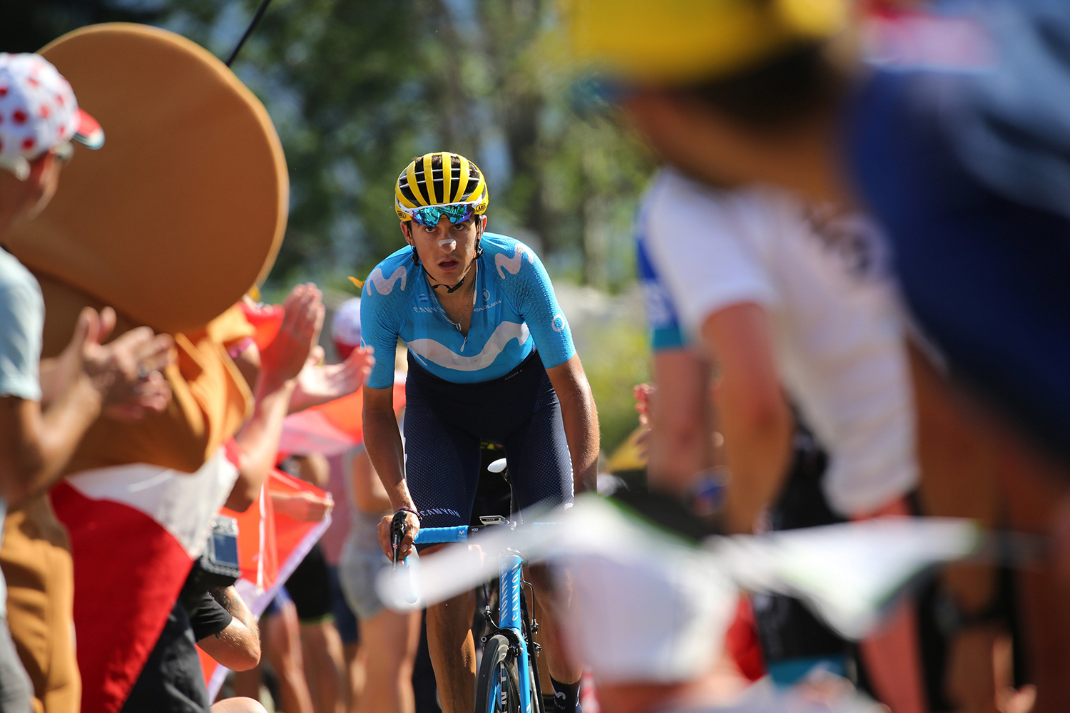 Tour de France 2018 - 105th Edition - 12th stage Bourg Saint Maurice Les Arcs - Alpe d'Huez 175 km - 19/07/2018 - Marc Soler (ESP - Movistar) - photo Kei Tsuji/BettiniPhoto©2018