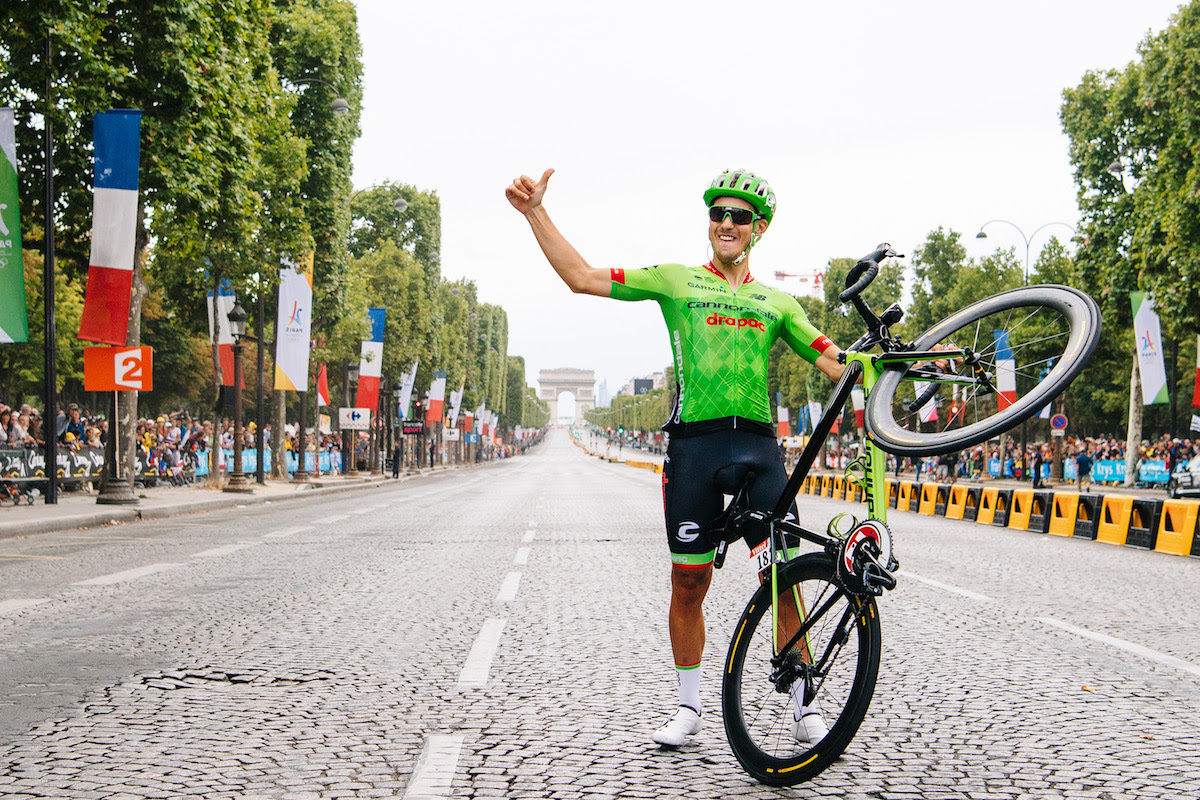 Alberto Bettiol en el final del Tour con el maillot de Cannondale (Foto: EF Education First).