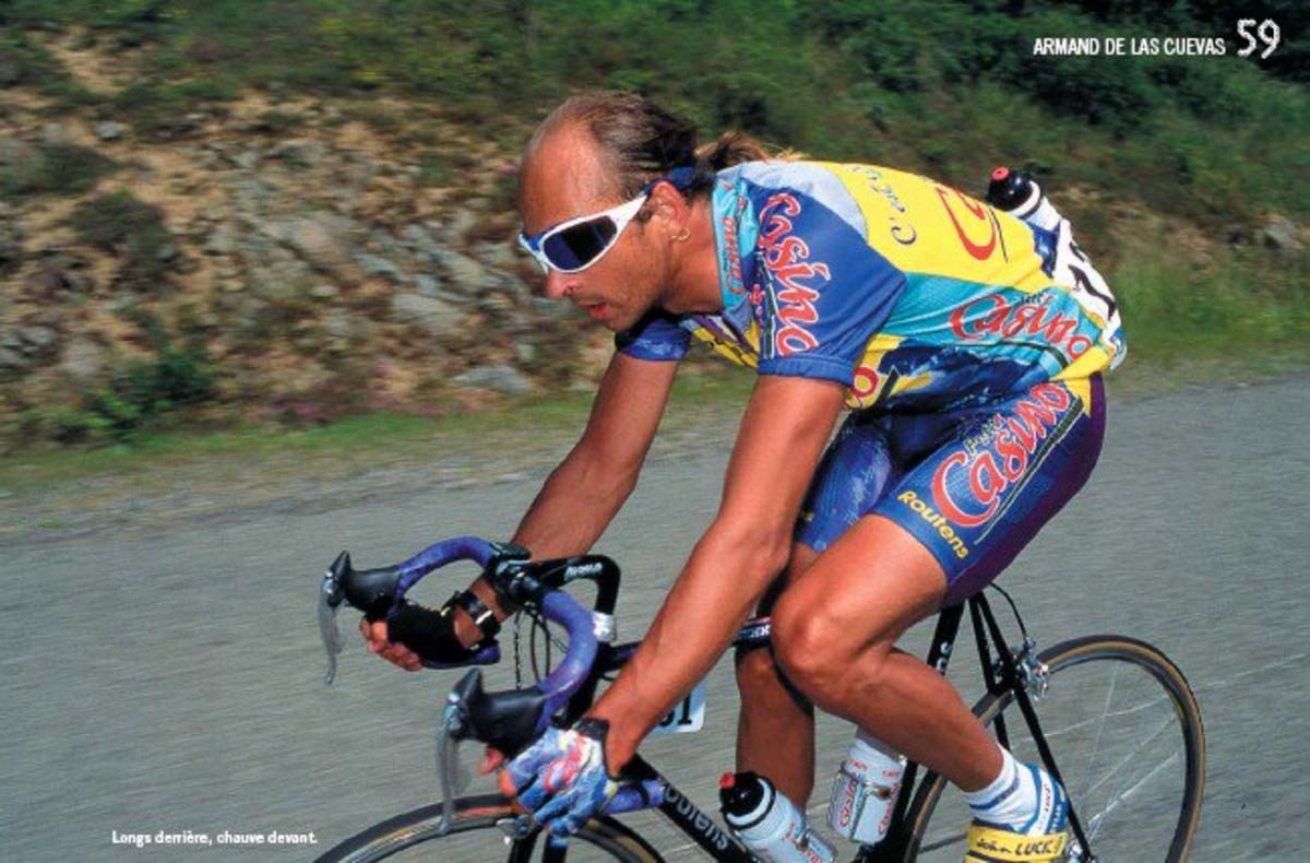 Armand de las Cuevas en una imagen difundida por la asociación de ciclistas franceses.