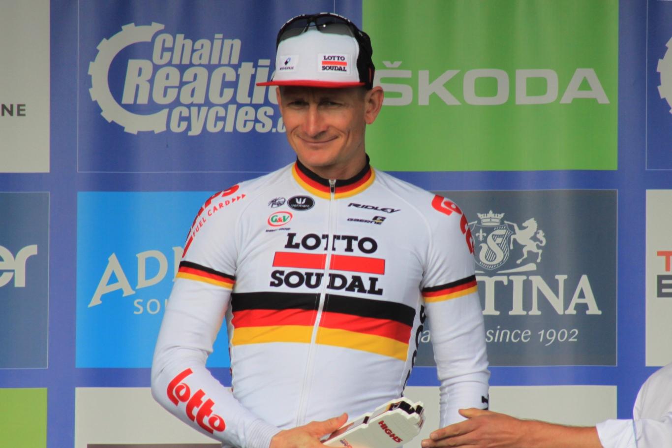 André Greipel con el maillot alemán.