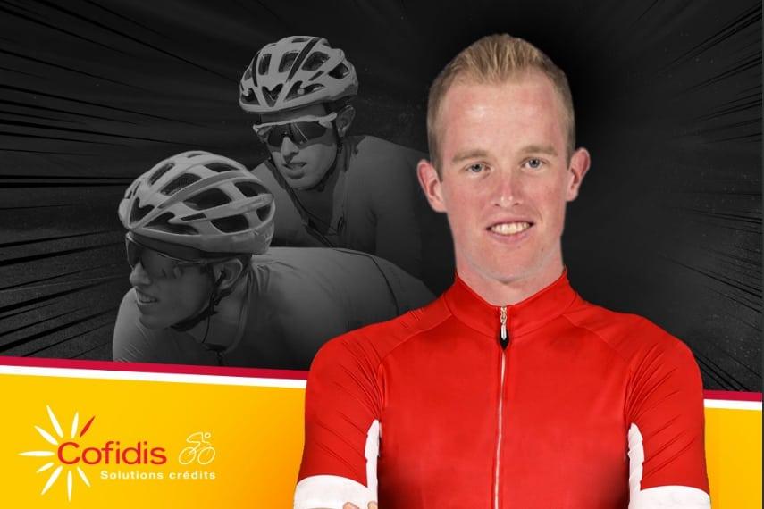 Imagen del anuncio de Jesper Hansen como nuevo corredor de Cofidis (Fuente: Twitter).