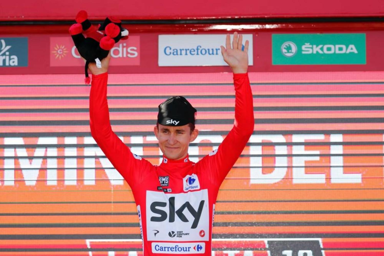 El polaco arrebató el maillot rojo a Rohan Dennis (Fuente: La Vuelta).