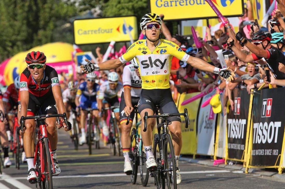 Michal Kwiatkowski (Team Sky) amplía su ventaja en la general con su segunda victoria consecutiva en el Tour de Polonia (Foto: TourPologne).