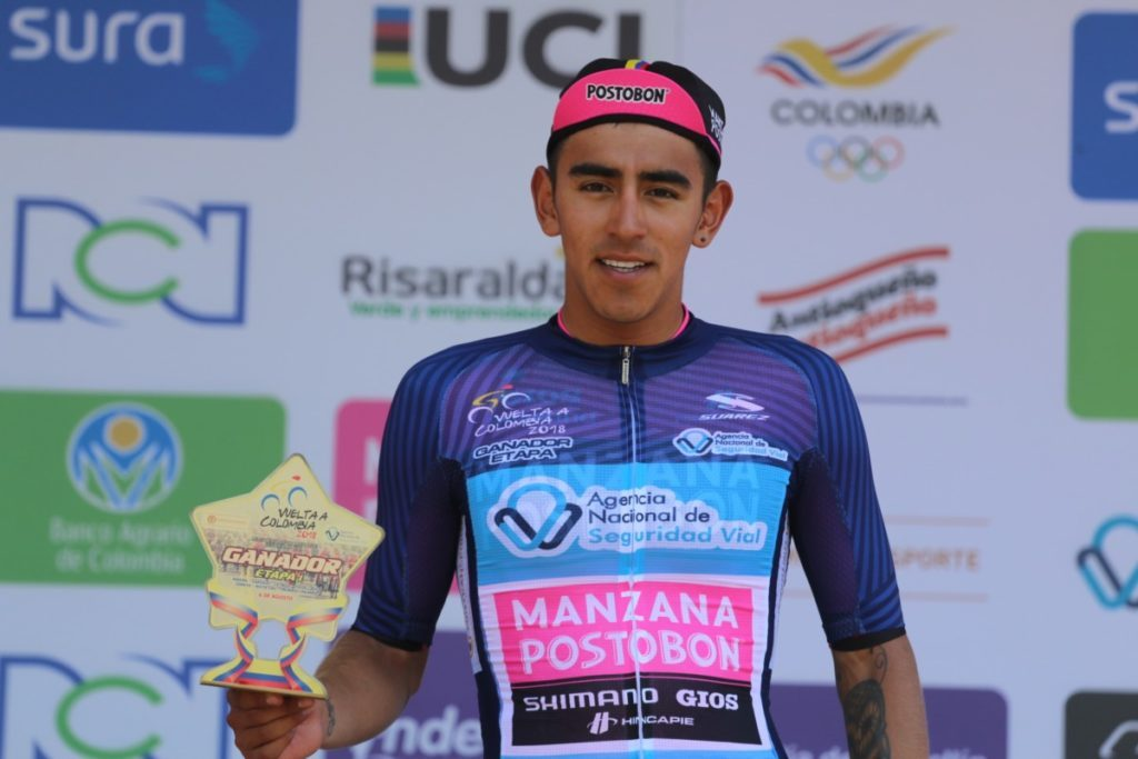 El colombiano ganó la primera etapa de la Vuelta a Colombia (Fuente: FCC).