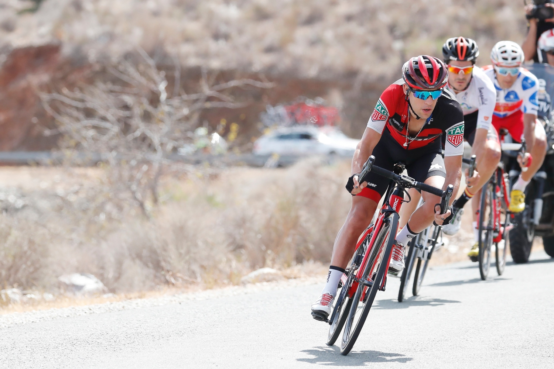 Richie Porte liderando a los fugados (Foto: Luis Ángel Gómez).