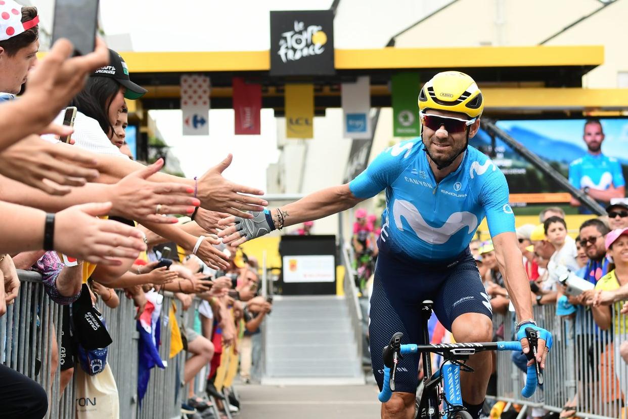 Alejandro Valverde acabó la etapa el tercero (Foto: Movistar).