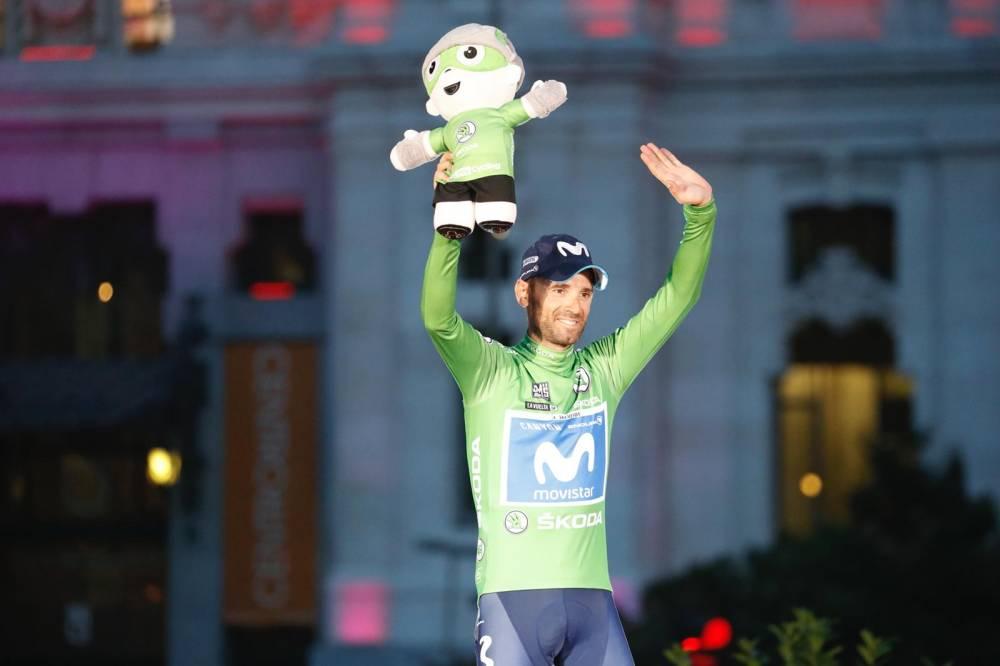 Alejandro Valverde en la celebración de la Vuelta a España 2018 (Foto: LaVuelta).