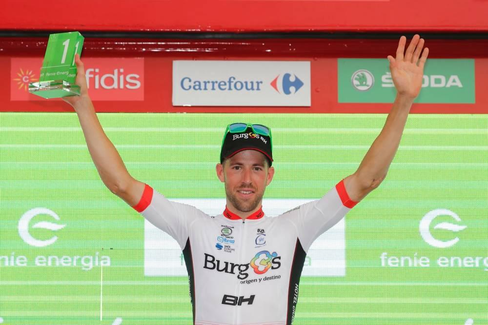 Jordi Simón sufrió una dura caída en la etapa 17 de la Vuelta a España 18 (Foto: LaVuelta).