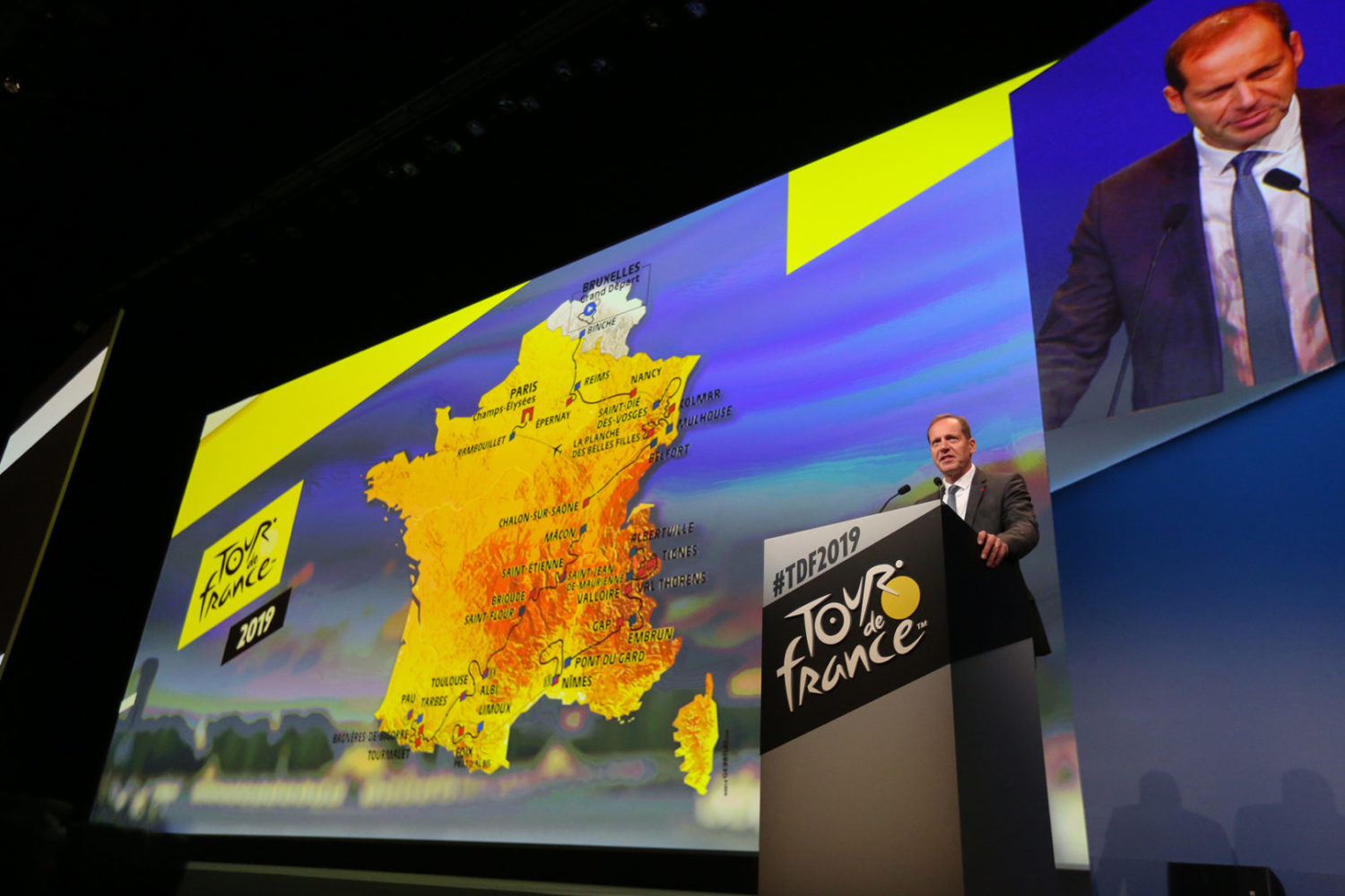 Presentation du parcours du Tour de France 2019 - 25/10/2018 : Christian Prudhomme