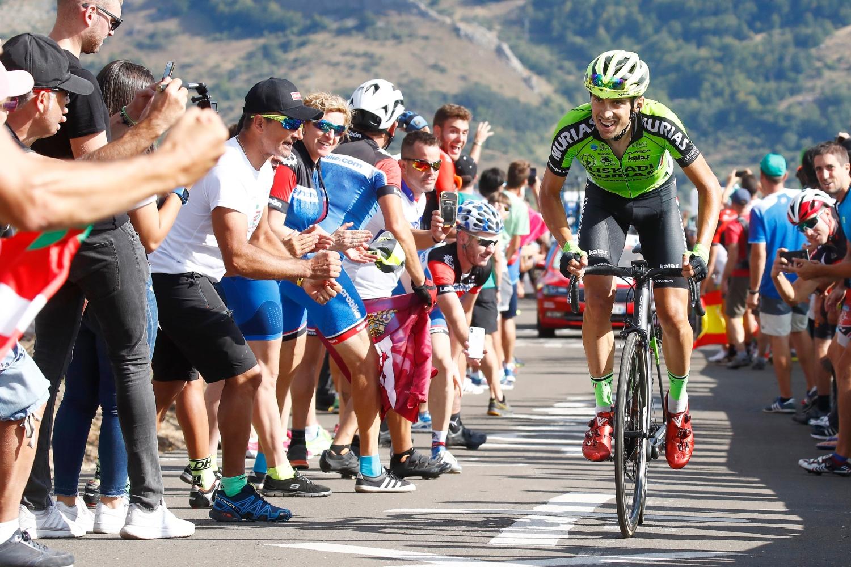 Óscar Rodríguez consiguió una etapa de la Vuelta a España para el Euskadi Murias, el mayor éxito de 2018 para la formación vasca (Foto: Photo Gomez Sport).