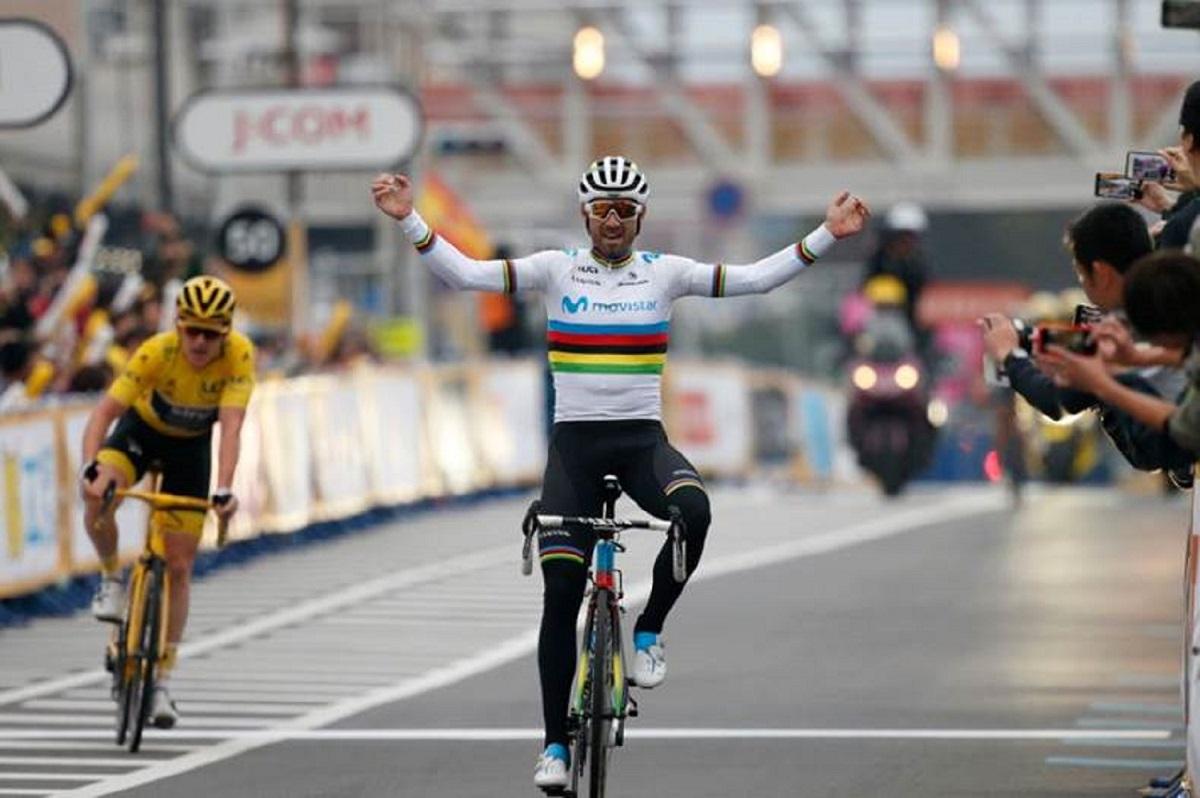 El murciano paseará el maillot arcoíris por su tierra (Foto: ASO / Yuzuru Sunada).