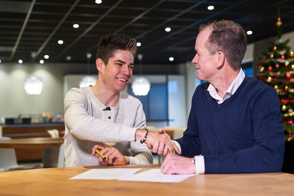 Wout van Aert correrá en el Jumbo-Visma los próximos tres años (Foto: Jumbo-Visma).