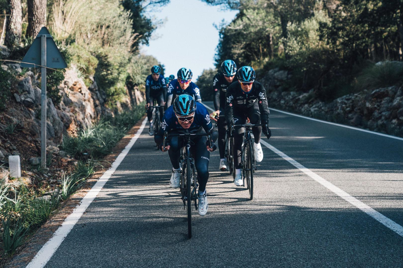 Froome y Castroviejo, ciclistas del conjunto Sky Team 2019