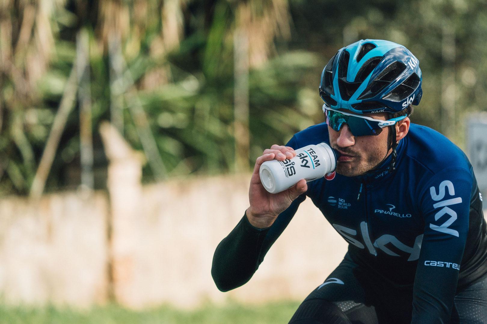 Gianni Moscon, ciclista del conjunto Sky Team