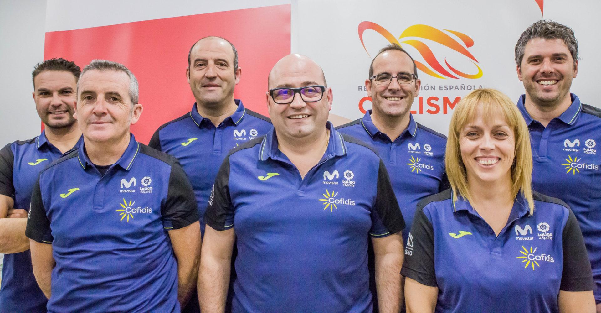 Seleccionadores de la Real Federación Española de Ciclismo (Foto: RFEC).
