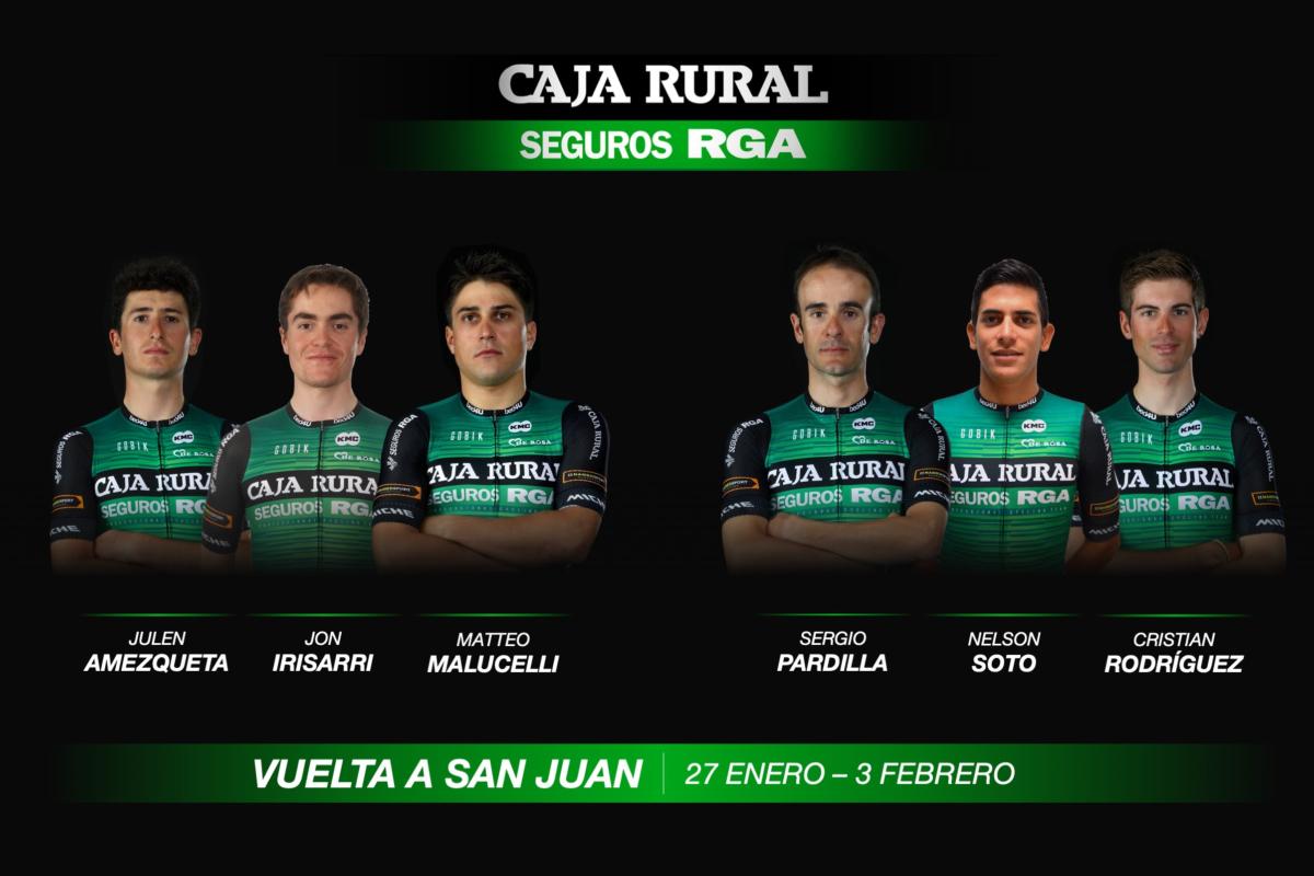 Convocatoria del Caja Rural para la Vuelta a San Juan 2019.