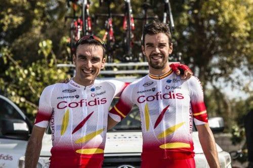 Luis Angel Mate y Jesús Herrada ciclistas del Cofidis