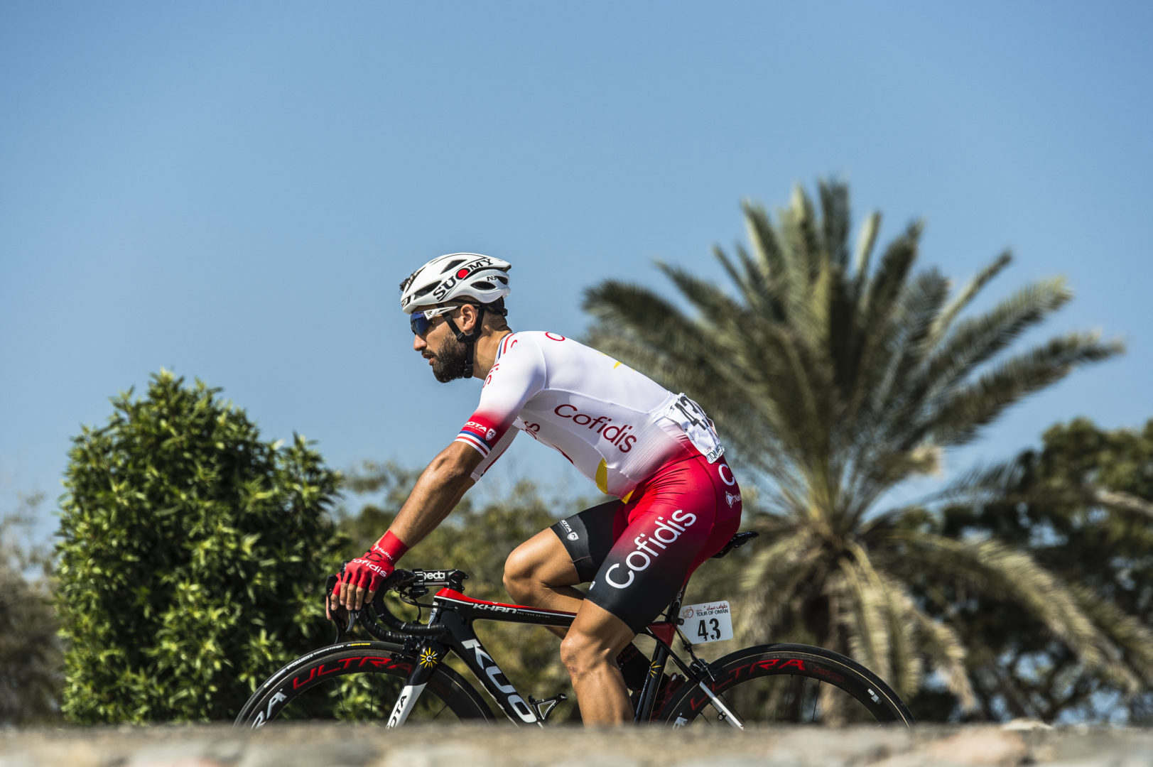 16/02/2019 - Tour of Oman - Stage 1 - Al Sawadi Beach - Suhar Corniche - Nacer Bouhanni (Cofidis, Solutions Credits). Credit: ASO/Kare Dehlie Thorstad